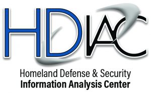 HDIAC logo black and white strokes verticle words two lines